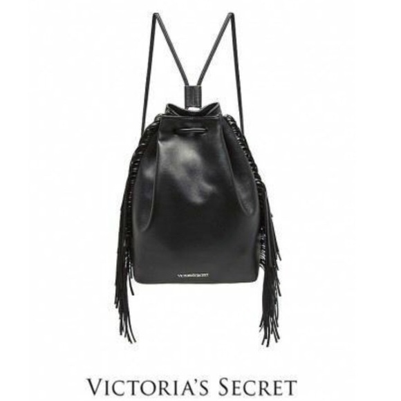 Victoria's Secret Handbags - NWOT VICTORIA SECRET LEATHER FRINGE BACKPACK